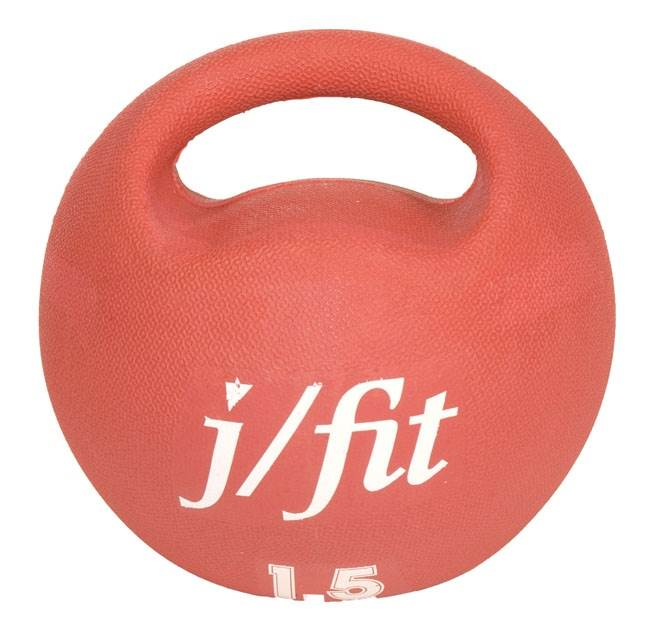3.3 lbs. Premium Handle Medicine Ball in Red