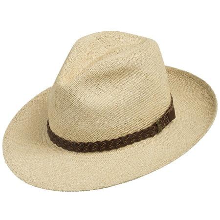 FEDORA PACKABLE FOLDABLE Panama Straw Hat CLASSIC - Walmart.com 9e4ad798f83