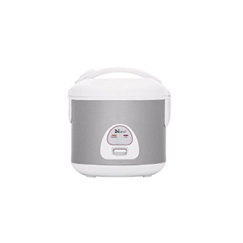Stainless Steel 4-Cup Rice Cooker with Stainless Steel Inner Pot