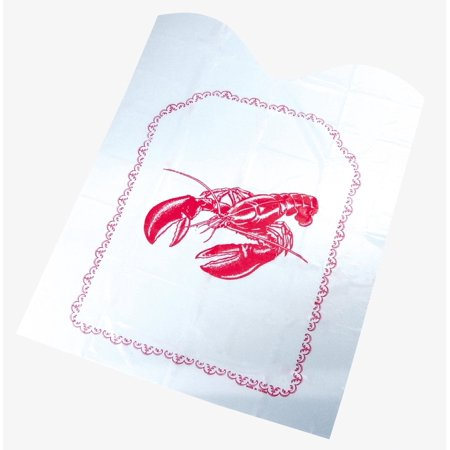 Fox Run Set Of Four Clambake Seafood Disposable Plastic Lobster Bibs Protection - Seafood Bib