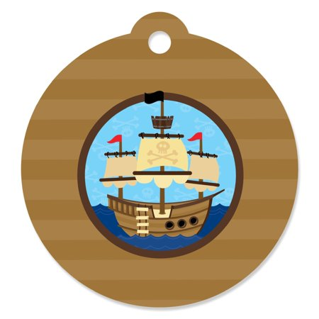 Ahoy Mates! Pirate - Party Favor Tags (Set of 20)](Pirate Themed Favors)