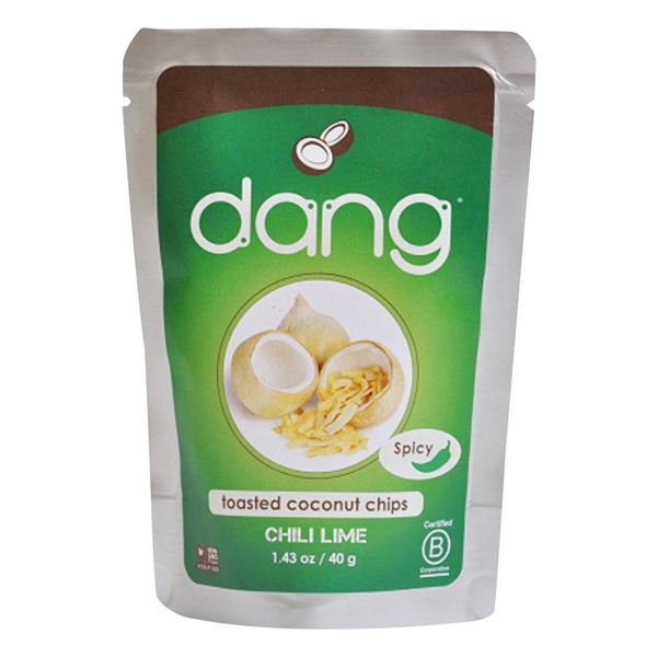 Dang Chili Lime Toasted Coconut Chips 1.43 oz Bags - Pack of 12