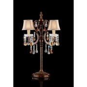 GOLDEN BROWN TABLE LAMP
