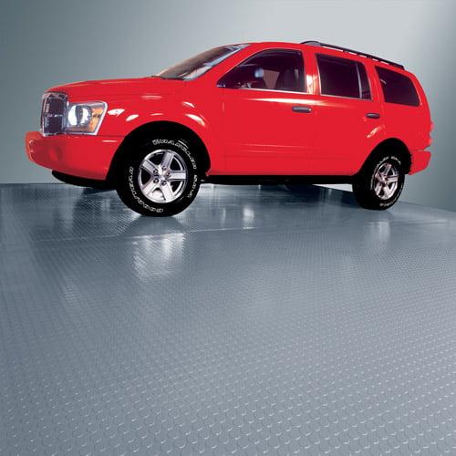 G-Floor 75 Mil Coin 7.5' x 17' Slate Grey Garage Flooring Cover/Protector