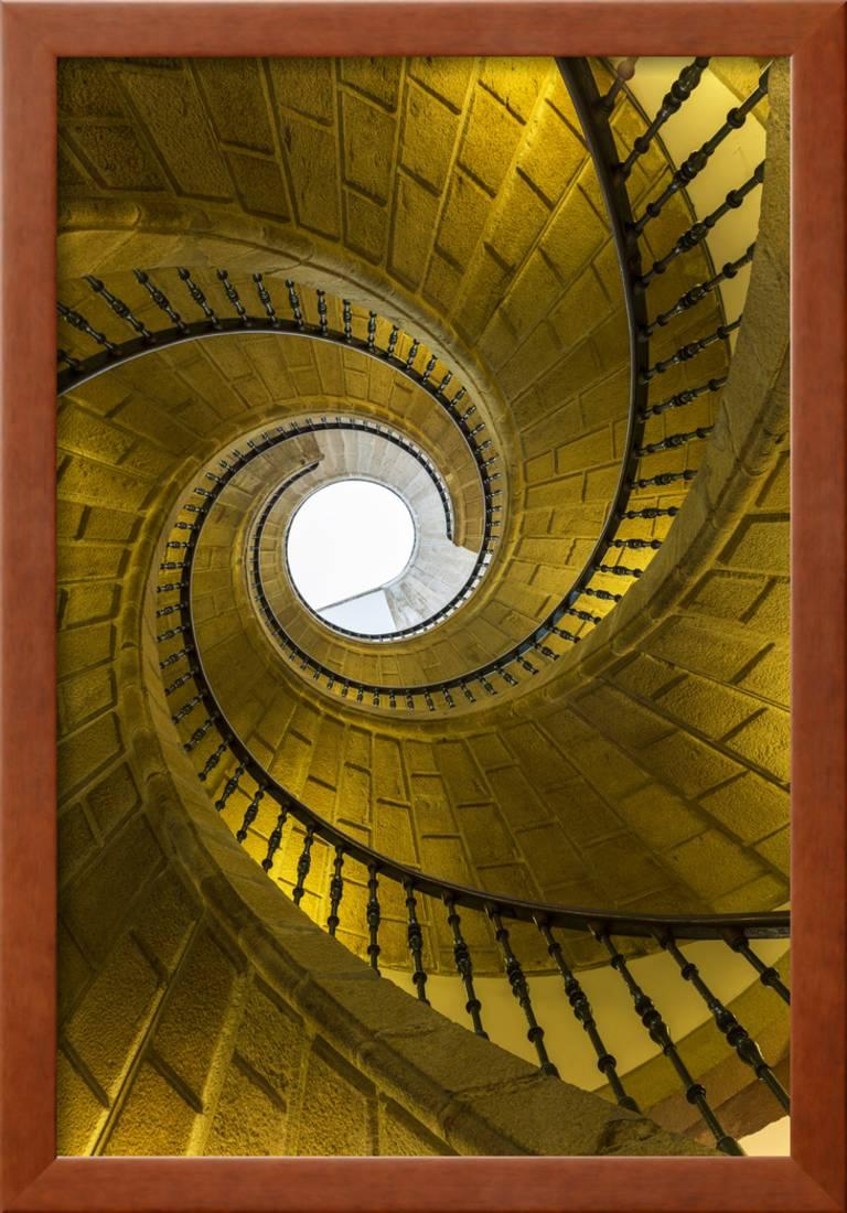 Triple Spiral Staircase Of Floating Stairs. Convent Of Santo Domingo De  Bonaval Framed Print Wall Art By Peter Adams