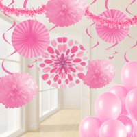 Candy Pink Party Decorations Kit, 32 pcs