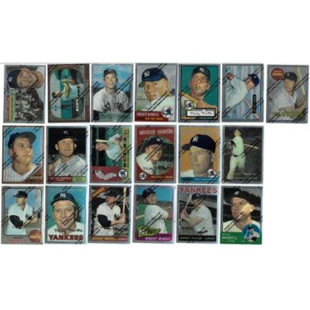 Athlon Sports Ctbl 022258 1996 Topps Finest Mickey Mantle Commemorative Complete Baseball Card Set 19 Cards
