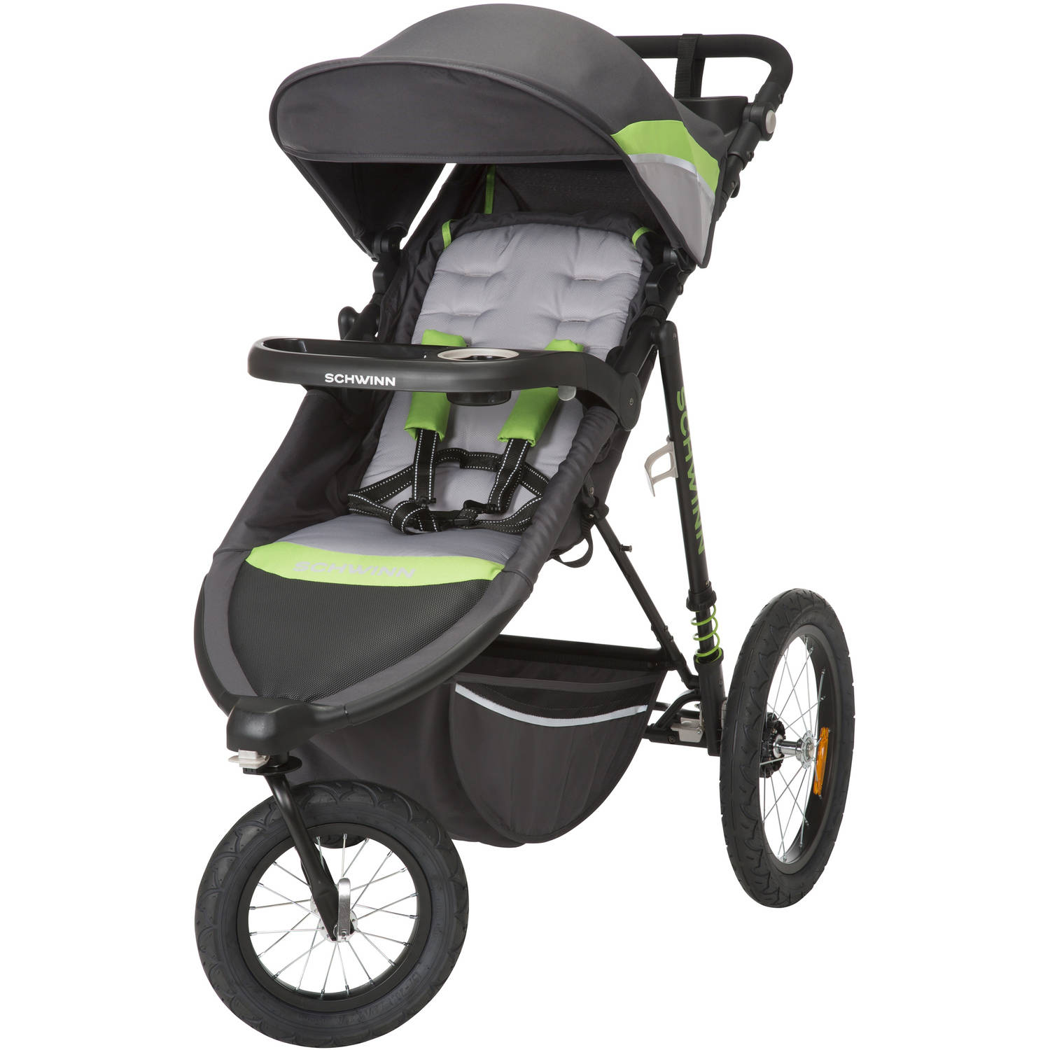 Schwinn Interval Jogging Stroller, Greenery