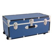 30 in. Trunk with Wheels and Lock in Misty Blue
