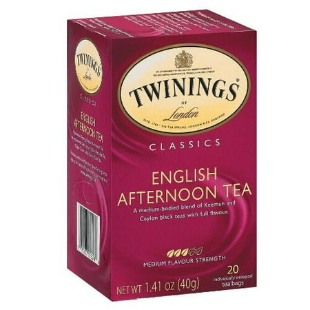(2 Pack) Twinings English Afternoon Tea, Tea Bags, 20 Count, 1.41 Ounce - Cuisine Tea