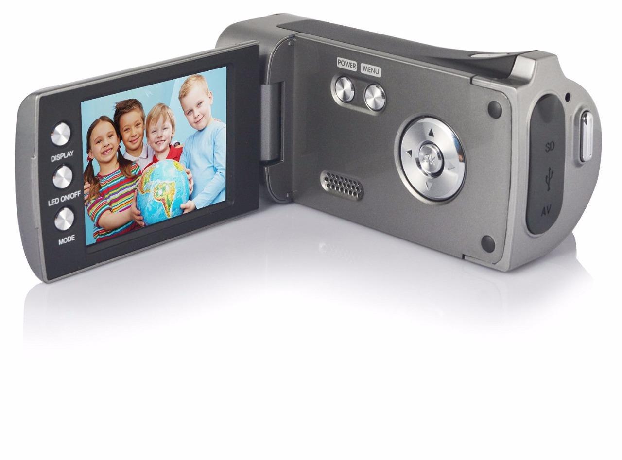 Lightahead DV Series Digital Video Camera with 4x Digital Zoom, 2.7-Inch LCD With Hand Strap & Cloth Bag (Black)