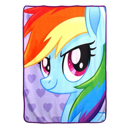 - Super Soft Throws - My Little Pony - Rainbow Dash Portrait New 45x60