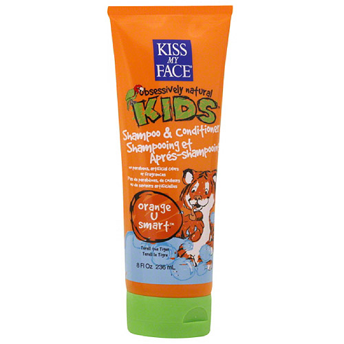 Kiss My Face Obsessively Natural Kids Shampoo & Conditioner, Orange U Smart, 8 oz
