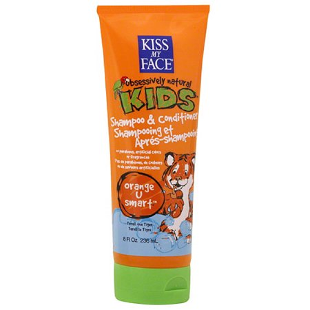 Kiss My Face Obsessively Natural Kids Shampoo   Conditioner  Orange U Smart  8 Oz