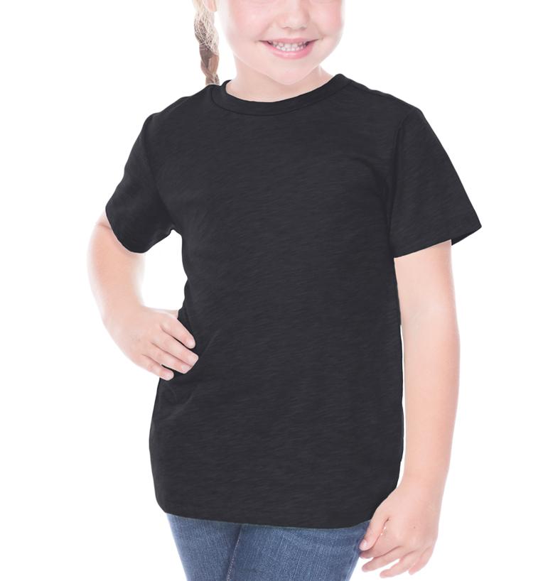 Crazy Dog Lady Paw Children Kids Boys Girls Short Sleeve T-Shirt Round Neck Tees 2-6T Black3T