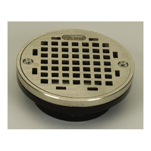 "PROFLO PF42873 3"" or 4"" PVC Shower Drain with 5"" Stainless Steel Strainer"