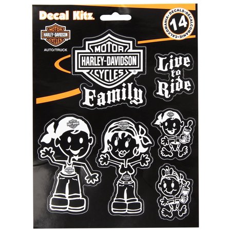 (Chroma 5390 White Harley-Davidson Family Decal Kit, Contains 14 piece Decals By Chroma Graphics)