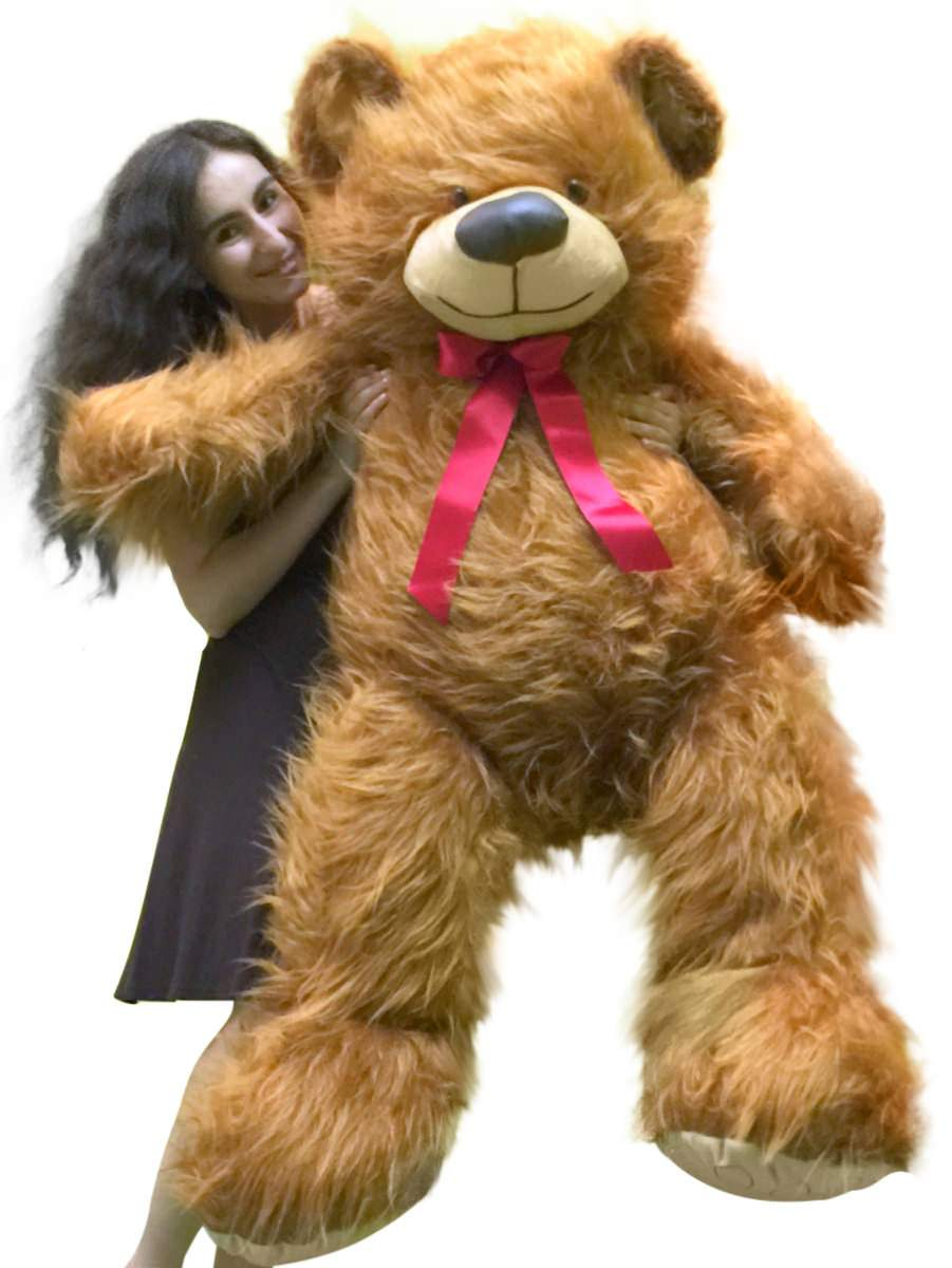 Click here to buy 5 Foot American Made Giant Brown Teddy Bear 62 Inches Soft Made in USA by BigPlush.