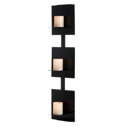 Metal Decor WA-11002-3-CAN-BRZ Cocoa Spice Bronze 3 Candle Sconce & Metal Wall Decor Art