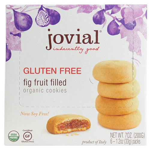 Jovial Organic Fruit Filled Cookies Gluten Free Fig 7 oz