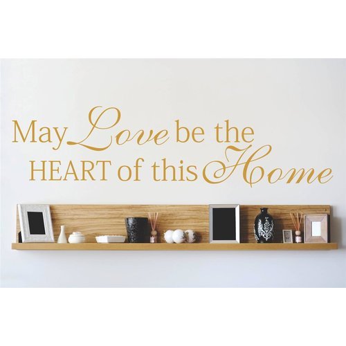 Design With Vinyl May Love Be the Heart of This Home Wall Decal