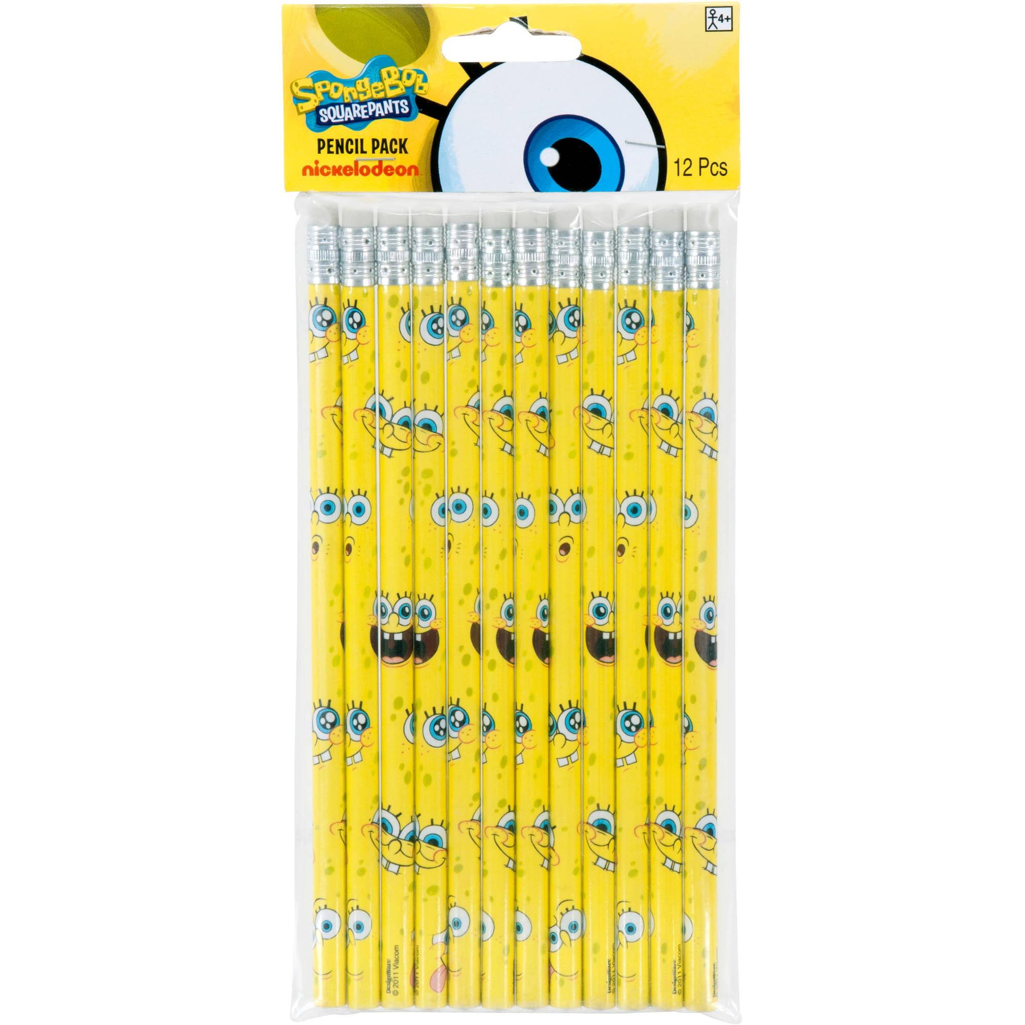 Spongebob Squarepants Party Favor Pencil 12ct Case Boxes 6116