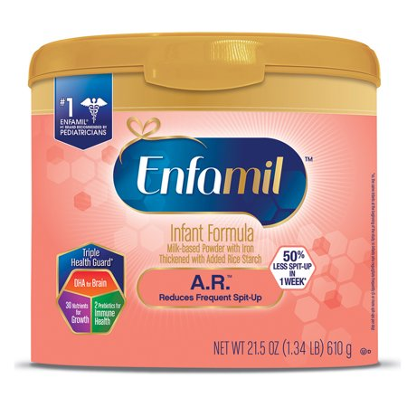 Enfamil A.R. Infant Formula - Clinically Proven to reduce Spit-Up in 1 week - Reusable Powder Tub, 21.5