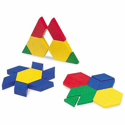 Learning Resources Plastic Pattern Blocks, Set of 100 by Learning Resources
