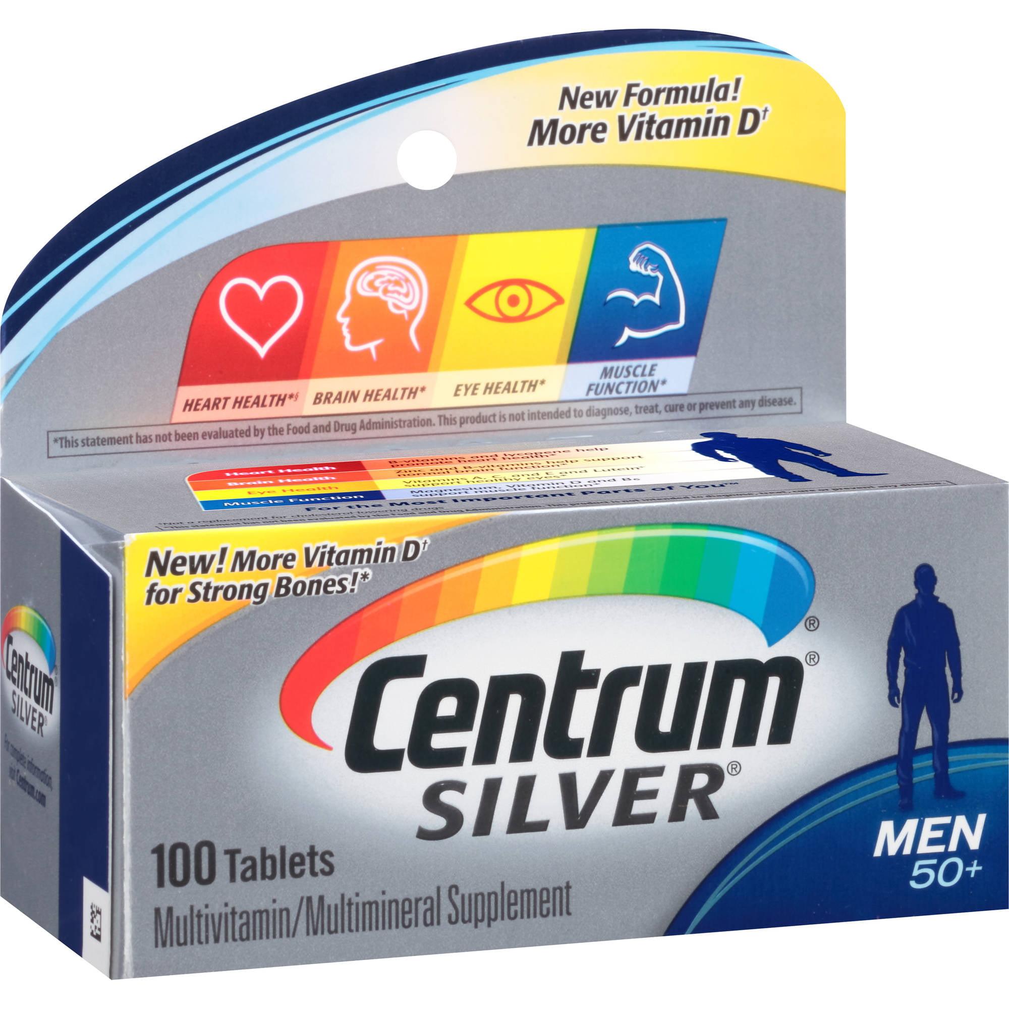 Centrum Silver Men Multivitamin/Multimineral Supplement 100 Count