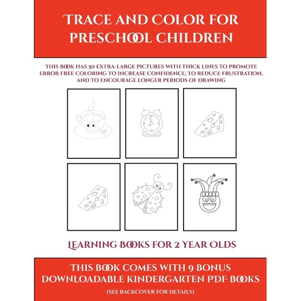 Learning Books For 2 Year Olds Learning Books For 2 Year Olds Trace And Color For