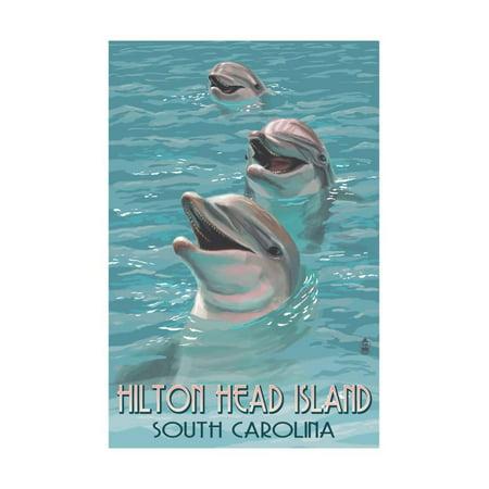 Hilton Head Island South Carolina Dolphins Print Wall Art By