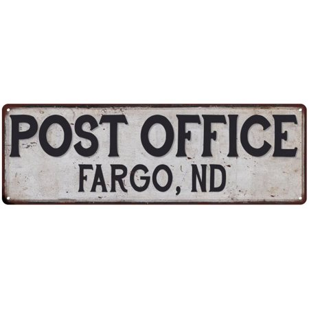 Fargo  Nd Post Office Vintage Look Metal Sign Chic Retro 6182295