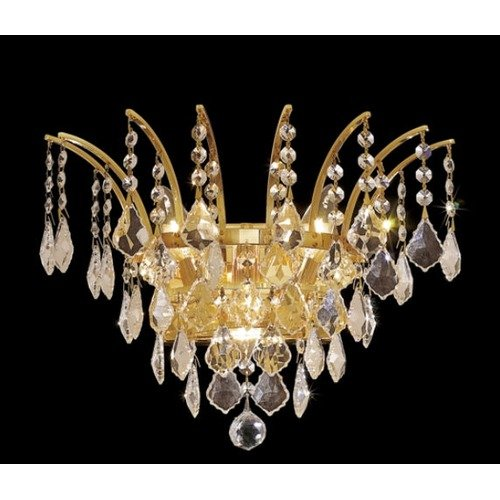 Elegant Lighting Victoria 3 Light Wall Sconce with Crystal Clear