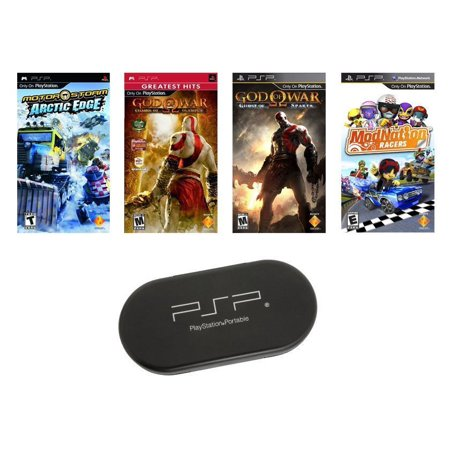 PSP ULTIMATE 4 Game Bundle with UMD Case Holder - Limited (Best 4 Player Co Op Games Ps3)