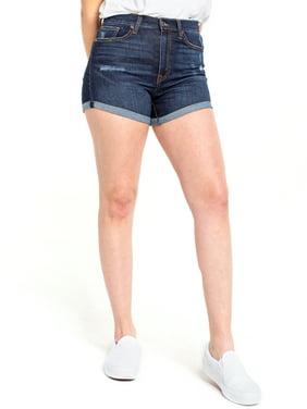 "Celebrity Pink Juniors' 4"" Ultra High-Rise Curvy Shorts"