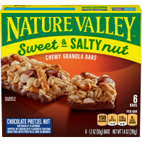 Nature Valley Granola Bars Sweet & Salty Chocolate Pretzel Nut 6 Ct