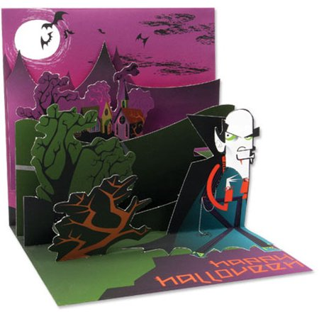 Up With Paper Vintage Vampire Pop-Up Halloween Card - Halloween Card Puns