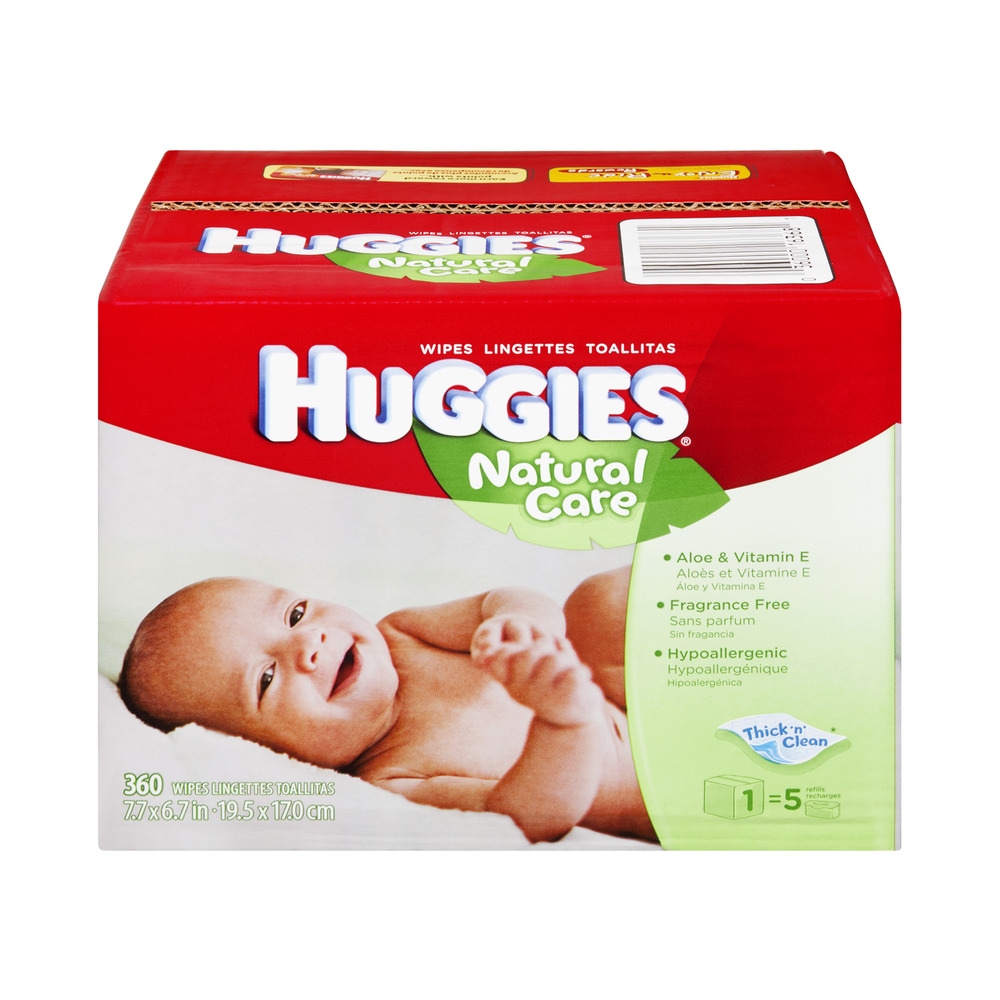 Huggies Natural Care Thick 'n' Clean Aloe & Vitamin E Baby Wipes - 360 CT