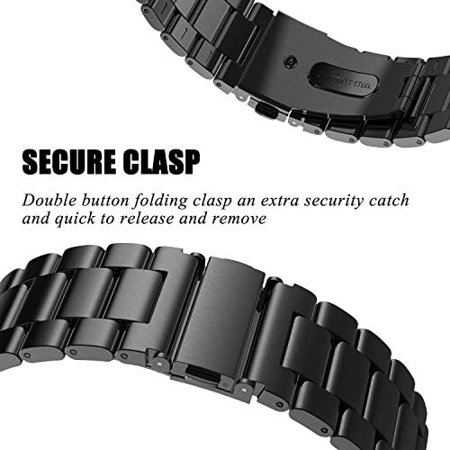 V-MORO Straps Compatible with Fitbit Versa/Versa 2 Watch Band Solid Stainless Steel Metal Business Replacement Bracelet - image 2 of 5