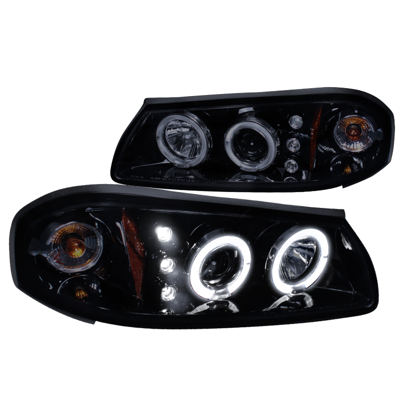 Spec-D Tuning 2000-2005 Chevy Impala Dual Halo Led Projector Headlights 00 01 02 03 04 05 (Left + Right)