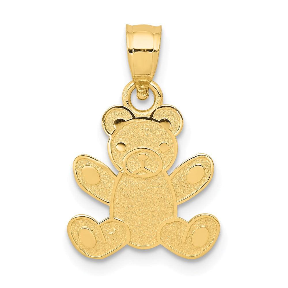 14k Yellow Gold Teddy Bear Pendant