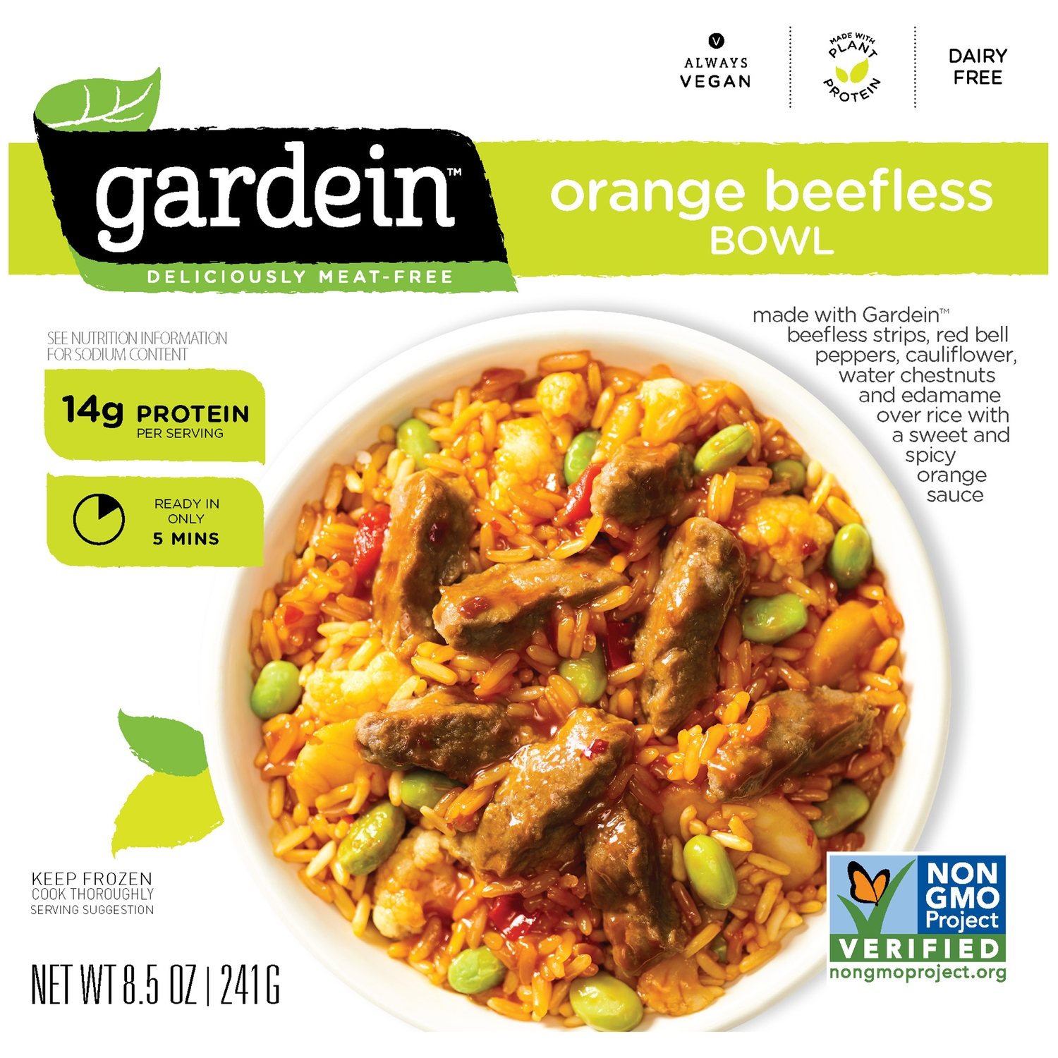 Gardein™ Orange Beefless Bowl Frozen Entree 8.5 oz Box