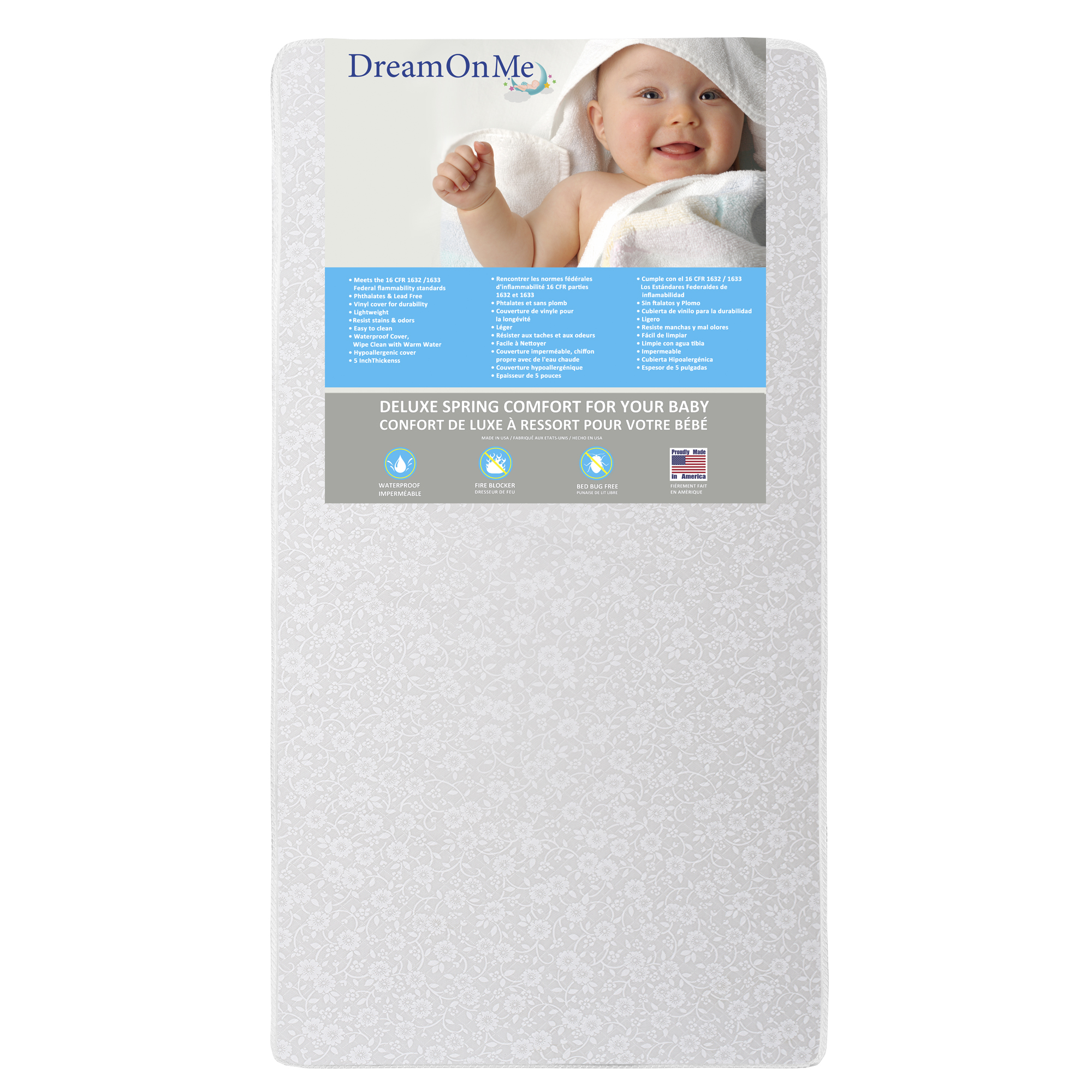 """Dream On Me Little Baby 6"""" Full Size Firm Foam Crib and Toddler Bed Mattress by Dream On Me"""