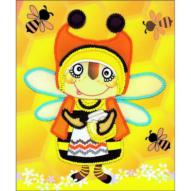 6 x 7 in. Granny Bee Stamped Cross Stitch Kit