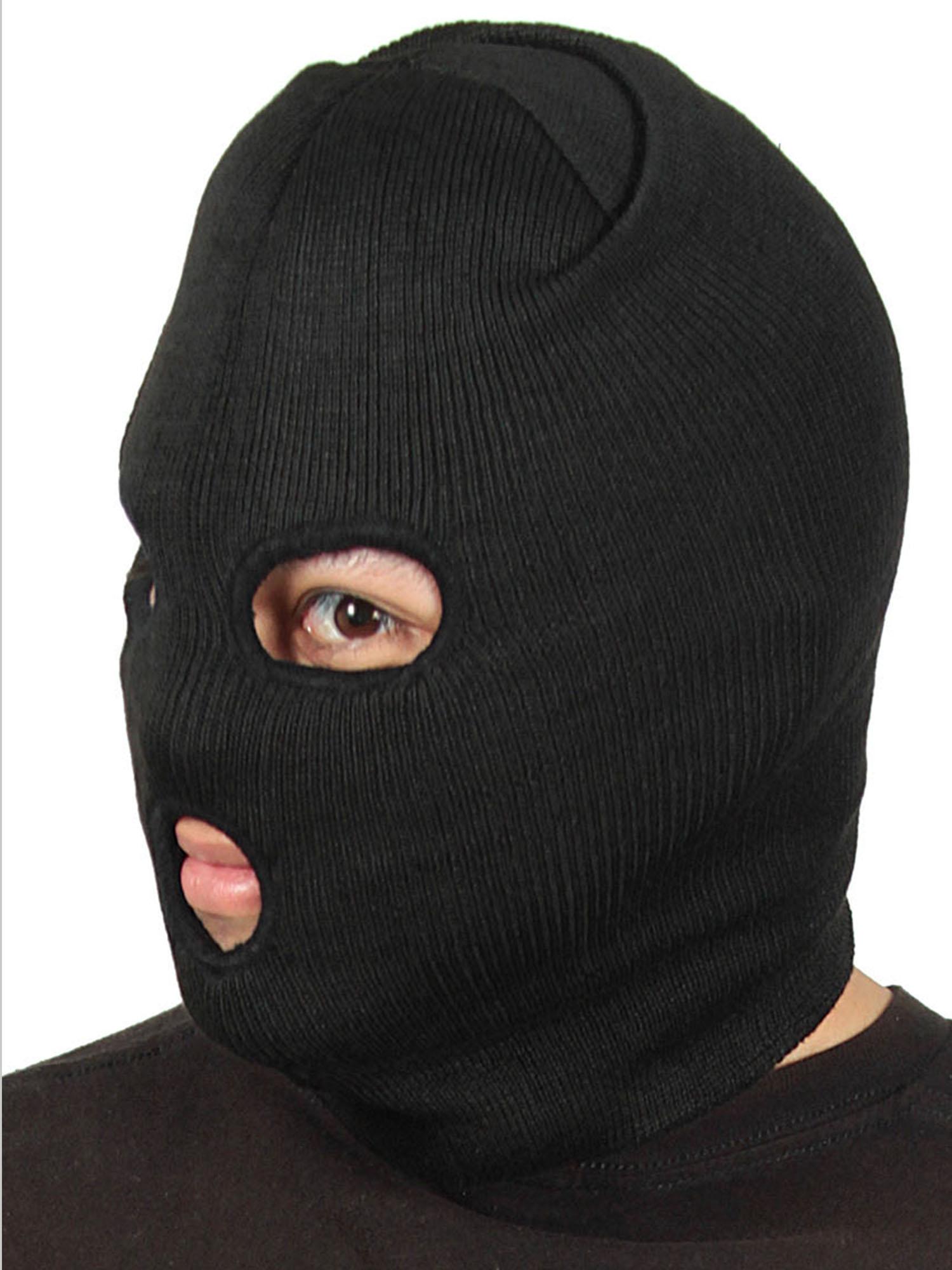 caa19e000571 Knit Face Ski Snowboard Mask 3 Hole Winter Beanie Neck Warmer Balaclavas -  Walmart.com