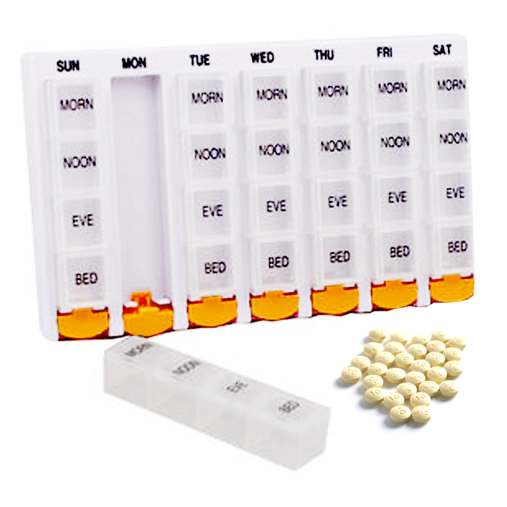 Weekly Pill Box Container Travel Storage Organizer 7 Day Medication Compartments