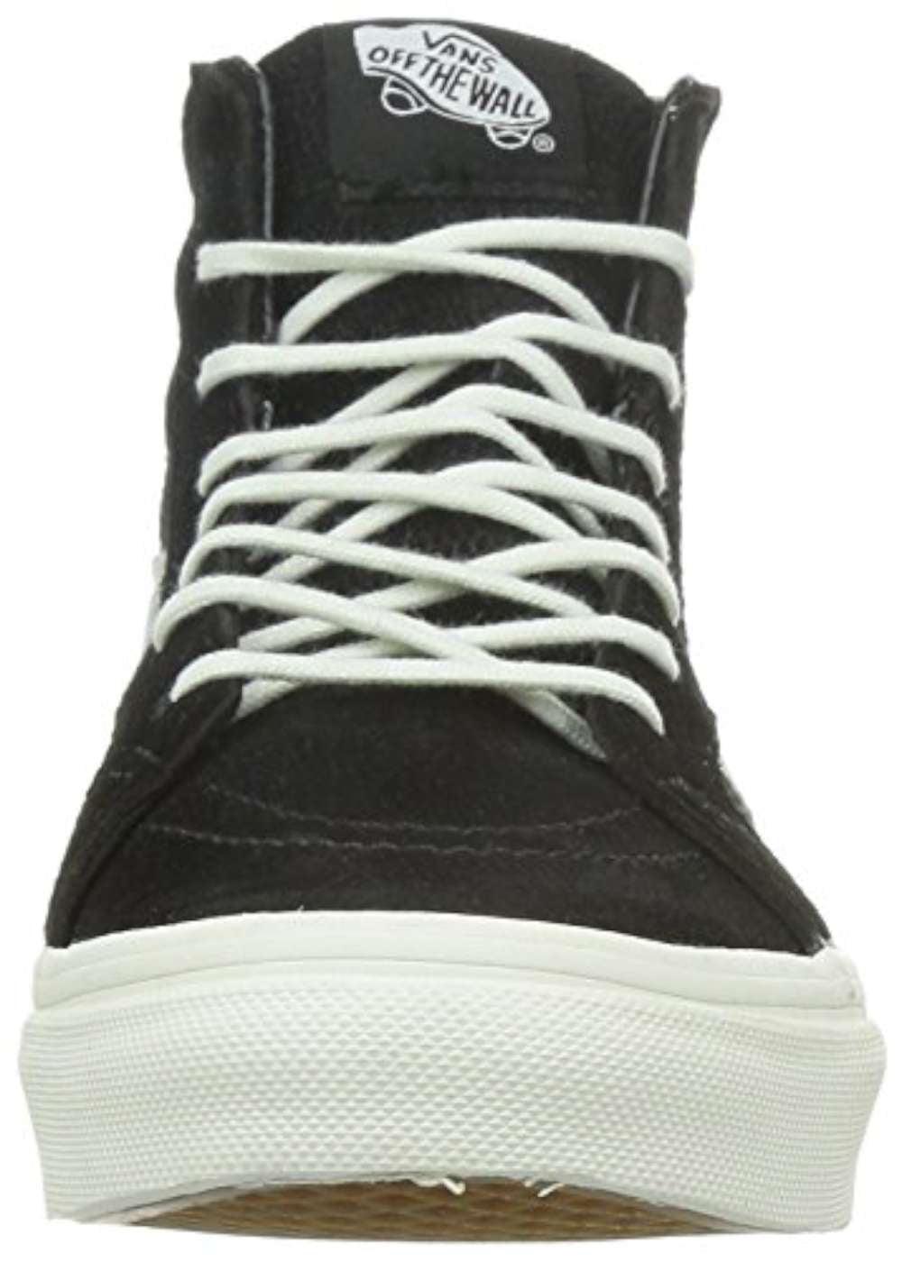 3dcf46d2c775dc Vans - Vans Sk8-Hi Slim Zip Lizard Emboss Black   Blanc De High-Top  Skateboarding Shoe - 7M 5.5M - Walmart.com