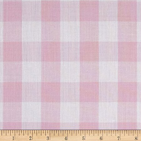 Richcheck 60in Gingham Check 1in Pink Fabric By The Yard, Gingham By Richland Textiles