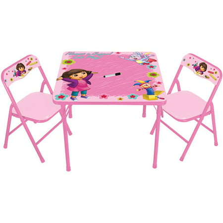 Nickelodeon Dora the Explorer Erasable Activity Table and Chair Set ...