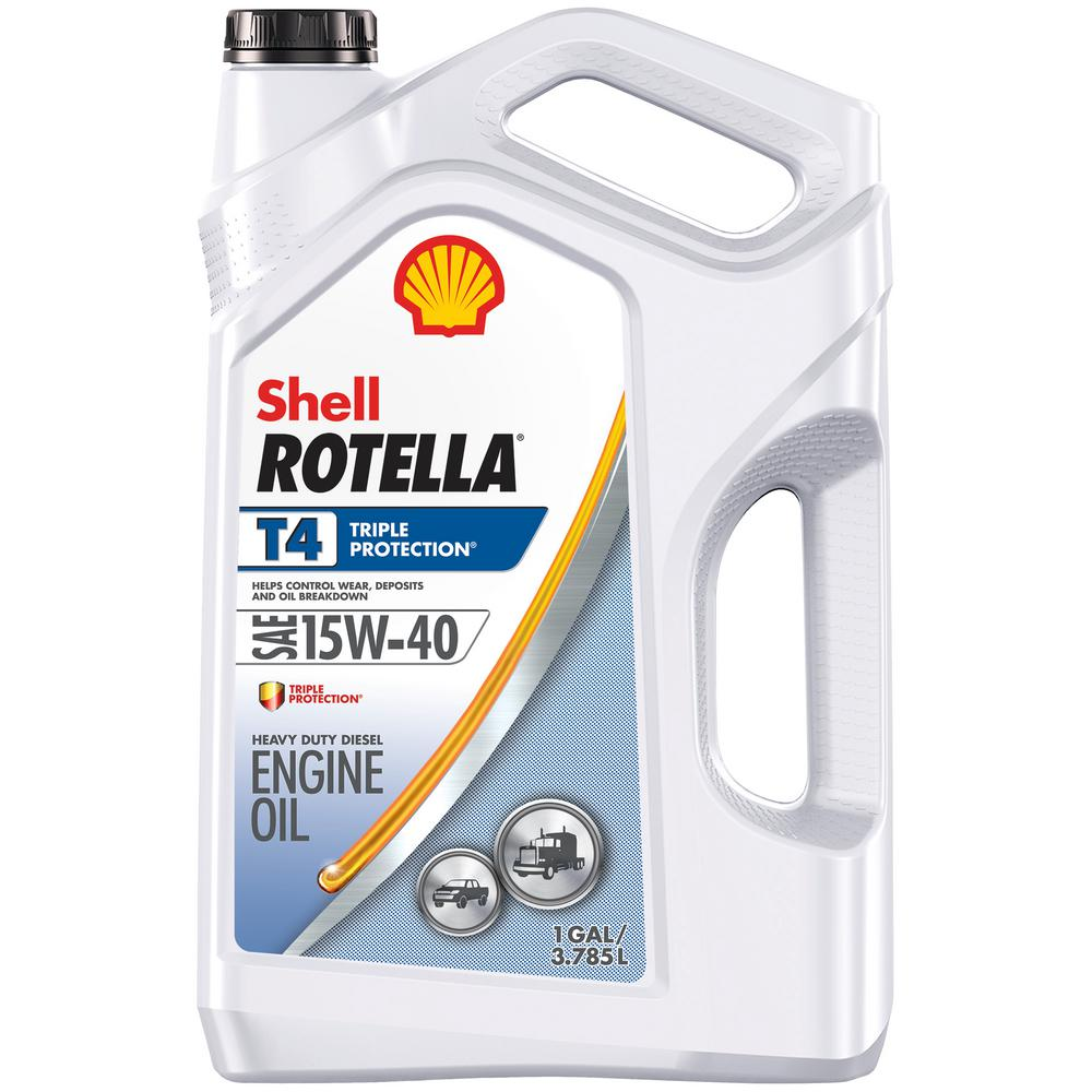 Shell Rotella T4 15W-40 Heavy Duty Diesel Oil, 1-gallon